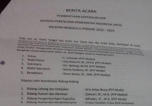 Selamat Atas Terbentuknya AP2I Komisariat Provinsi Bengkulu
